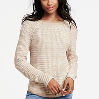 Waffle Boatneck Sweater - Victoria's Secret
