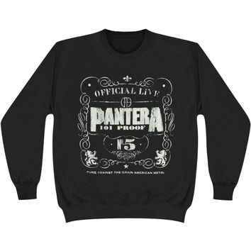 Pantera Men's  No. 5 Sweatshirt Black Rockabilia