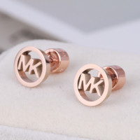 MK Michael Kors Fashion New Letter Diamond Women Earring Accessories Rose Gold