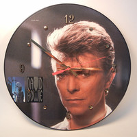 David Bowie Picture Disc Record Wall Clock by recordsandstuff