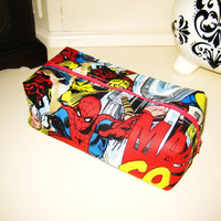 Marvel Comics Avengers Boxy Make Up / Toiletry Bag