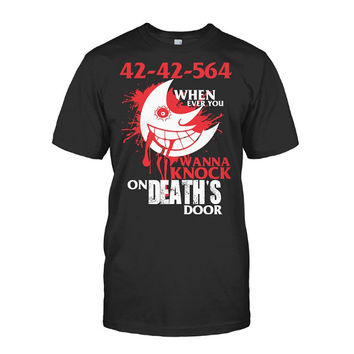 Soul Eater - 42 42 564 when ever you wanna knock on deaths door -Men Short Sleeve T Shirt - SSID2016