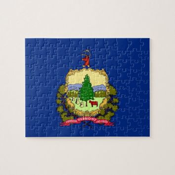 Puzzle with Flag of Vermont State