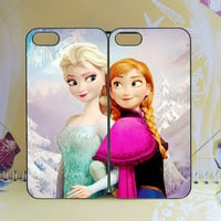 Samsung S4 Active,Frozen,Anna and Elsa,HTC one m7 case,Samsung S4 Case,ipod 5 case,iPhone 5C Case,iPhone 5S Case,Q10 Case,Any two can match
