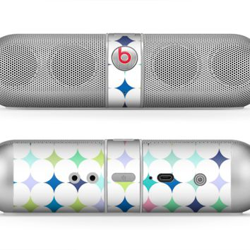 The Vibrant Fun Colored Pattern Hoops Inverted Polka Dot Skin for the Beats by Dre Pill Bluetooth Speaker