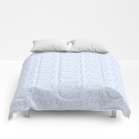 Plaisir d'amour -romance,romantic,love,beauty,girly,gentle,romantism,pleasure of love Comforters by oldking