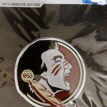 Florida State Seminoles NEW LOGO 3D COLOR Chrome Auto Emblem Decal University