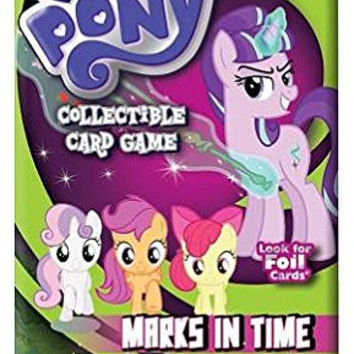 My Little Pony CCG Marks In Time, Set of 6 Booster Packs & Foil Promo Card ML...