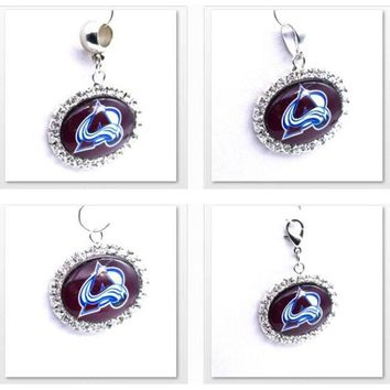 Pendant Charms Rhinestone NHL Colorado Avalanche Charms for Bracelet Necklace for Women Men Ice Hockey Fans Paty Fashion 2017