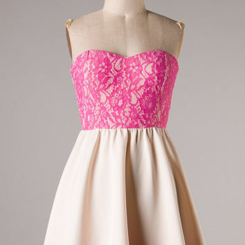 Sweet and Simple Dress - Pink