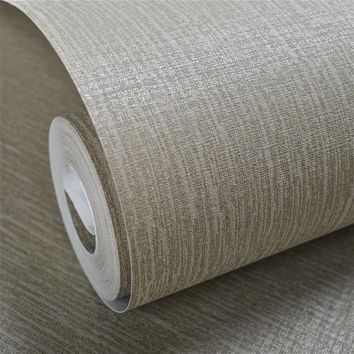 Simple Modern Faux Linen Fabric Wallpaper Neutral Vertical Cloth Wall Paper For Bedroom & Home Decor,Beige,Grey
