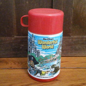 Vintage 1980s Walt Disney's Wonderful World Aladdin Thermos for Metal Lunchbox