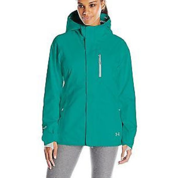 Under Armour Women's ColdGear Infrared Hierarch Jacket, Emerald Sari/Boulder,...