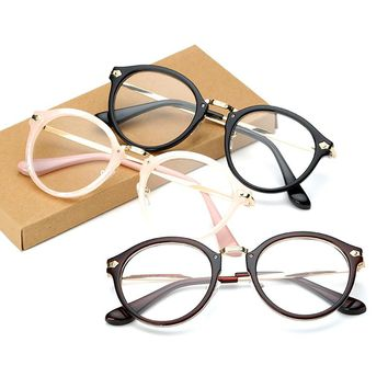 Vintage Men Women Eyeglass Round Frame Clear Full Rim Spectacles Eyewear Optical New