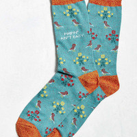 Pimpin' Cross-Stitch Sock | Urban Outfitters