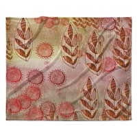 "Marianna Tankelevich ""Summer Music"" Red Orange Fleece Throw Blanket"