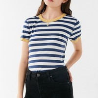 Truly Madly Deeply Striped Ringer Tee | Urban Outfitters