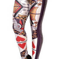 Queen of Hearts Leggings Design 184