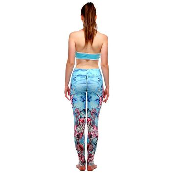 Sea Horse Under The Sea  Workout Leggings Tights For Women