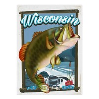 Wisconsin State fishing poster