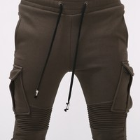 Mens BM Stretch Pintuck Skinny Cargo Jogger at Fabrixquare