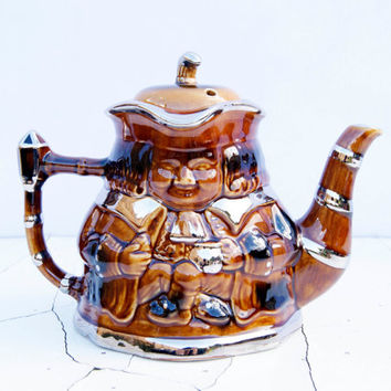 Vintage  Price & Kensington Potteries Ltd Made in England Brown Teapot
