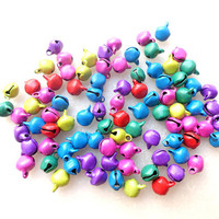 150 colored bells jingle bells christmas bells jewelry supplies kids jewelry wholesale supplies, decoration invitations