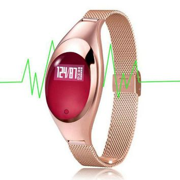 2017 Women Fashion Z18 Smart Watch Smart Watches With Jewels Screen Intelligent Blood Pressure and Heart Rate Monitor Pedometer