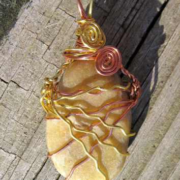 Natural River Stone Pendant