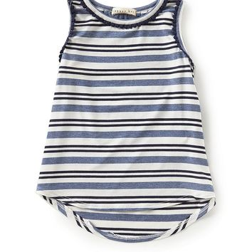 Copper Key Little Girls 2T-6X High-Low Stripe Tank Top | Dillards