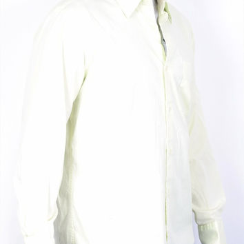 Merona Mens L Casual Shirt Green Collar