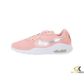 Womens Nike Air Max Oketo + Crystals - Coral Stardust/Metallic Red Bronze/White