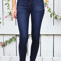 Hi-Rise Denim Jegging {Dark Wash}