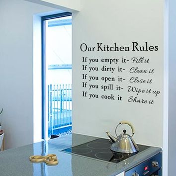 Our Kitchen Rules Wall Decal