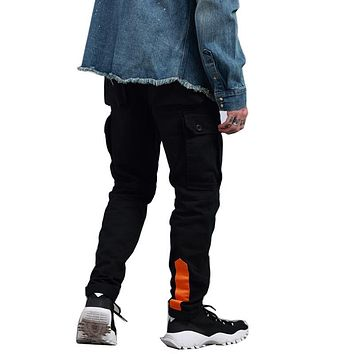 High Quality Mens Cargo Pants Several Pockets Design Full Length Casual Outwear Straight Casual Loose Solid Pants