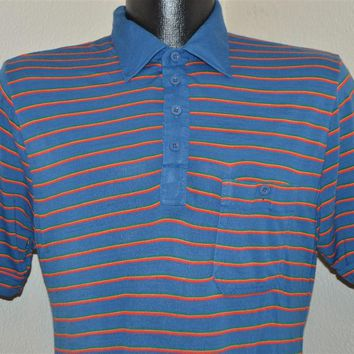 80s Youngbloods Striped Polo Shirt Size Small