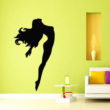 Wall Decals Vinyl Decal Sticker Art Murals Gym Decor Gymnast Girl Dancer Kj605