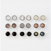 Neutral Stud Earrings - 9 Pair - Spencer's