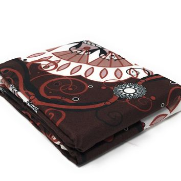 Tache 2 Piece Burgundy Palace Fancy Patterned Pillowcase