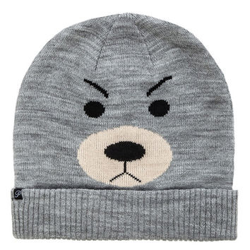 Bear Pattern Revers Knitted Hat