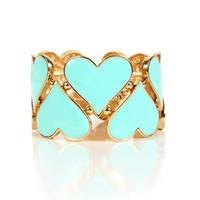 Mint Double Heart Bracelet