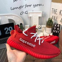 Supreme x Yeezy Boost 350 V2 Red Shoes 36-45