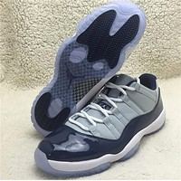 Air Jordan 11 grey/black Basketball Shoes 41-47