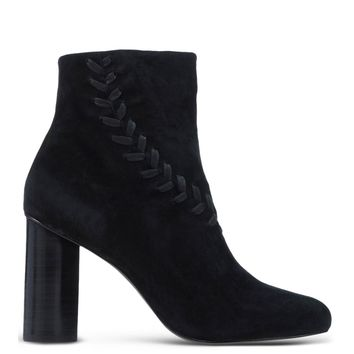 Senso Braided Suede Boot - Black Pointed Heel