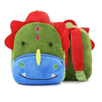 Toddler Backpack class Cute Small Toddler Kids Backpack Plush Animal Cartoon Mini Children Bag for Baby Girl Boy 1-4 Years Plush Backpack School Bag AT_50_3