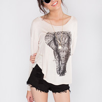 Mystical Elephant Top - Taupe