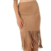 Skirts   Women Tassel Pencil Skirt Plus Size Casual Women Clothing Chic Sexy Midi Brown Lady Skirts