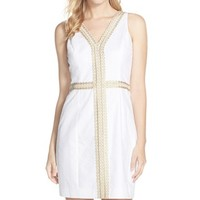 Women's Lilly Pulitzer 'Bentley' Embroidered Cotton Sheath Dress,