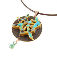 Japanese Symbol for Daughter Necklace - Handmade Ceramic Pendant - Daughter Jewelry - Zen Jewelry