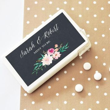 Personalized Floral Garden Mini Mint Favors (Set of 24)